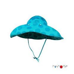 ManyMonths Chapeau de soleil ajustable Floppy Big Dots Turquoise