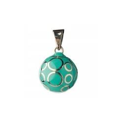 Bola de grossesse - Turquois avec cercle argenté - Babylonia
