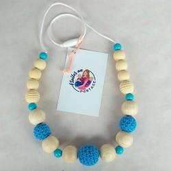 Collier de portage et d'allaitement - Bleu comme le Ciel - Etoiles en Portage